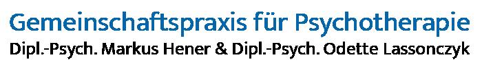 Gemeinschaftspraxis für Psychotherapie · Dipl.-Psych. Markus Hener & Dipl.-Psych. Odette Lassonczyk